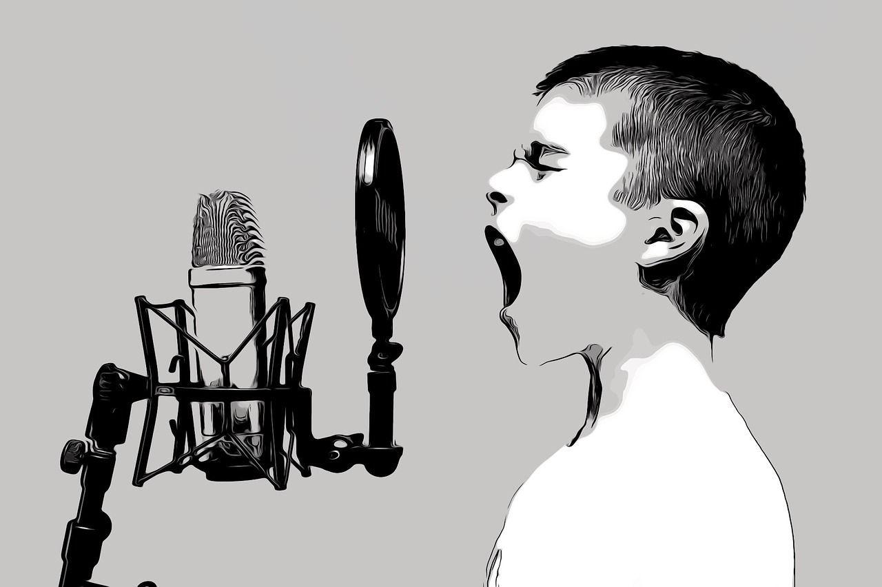 Cantante grabando
